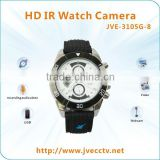 JVE-3105G-8 Wireless 720P Watch HD Hidden Camera/Full HD IR Night Vision Watch Camera