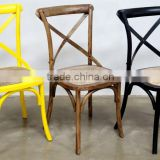 Best Seller Rattan Birch Wood X Cross Back Dining Chair/rattan seat cross back chair wooden chair /Cross back chair                                                                         Quality Choice