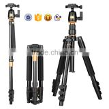 Q555 154cm flexible photo tripod 15kg load Aluminum digital dslr video camera tripod parts with panorama ball head