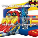 Newest hot sale cheap BATMAN Classical inflatable bouncy house and fun slide combo castle for sale
