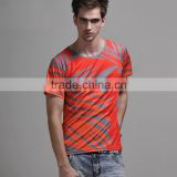 cheap colorful dye sublimation shirts and polyester fabric dye sublimation or sublimation printing t shirt made in China