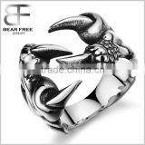 Mens Stainless Steel Ring Gothic Wolf Dragon Scorpion Claw Tribal Punk Biker Polished Silver