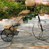 bicycle shaped iron flower stand