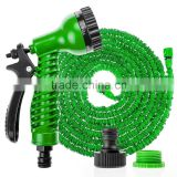 100 Feet Expandable Garden Hose with 7-pattern Spray Nozzle for Gardening Washing Your Car Green