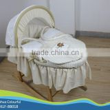 hand made cradle baby moses basket / moses basket set /maize basket/ bassinet,/ corn basket /with rocking stand BB-018