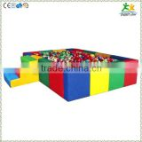 FS-SP-039F customized eco-friendly PVC & EPE & Wood rectangular kids ball pool equipment with ladder and colorful sea-balls