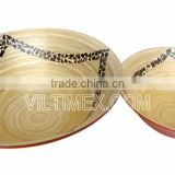 Natural hand made bamboo with coconut salad bowl