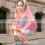 Silk twill Scarves Women's scarf Handmade Wrap Shawl square                                                                         Quality Choice