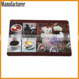 AY CMKY Printing Cute Plastic Table Protection Mat Table Plate Mat Table Mat with SGS Approved