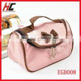 zipper lock leather cosmetic bags travel bag