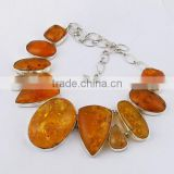 Ocean Melody !! Amber 925 Sterling Silver Necklace, Silver Jewelry Exporter, Handmade Silver Jewelry