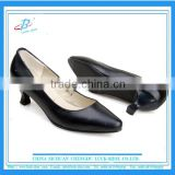 Women low heel Hotel work shoes Airline lady soft leather formal shoes women comfort dress shoes