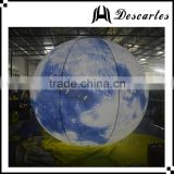 Lighting inflatable Earth hang balloon, large inflatable led globe planet helium balloon for sale