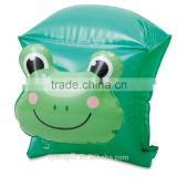 Dongguan factory inflatable loverly frog arm bands for kids swimming
