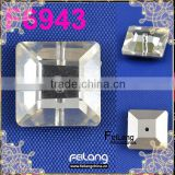 Feilang brand square one hole crystal use for clothing