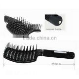 Ionic nylon hair brush curve hair brush plastic vent hairbrush black                                                                         Quality Choice