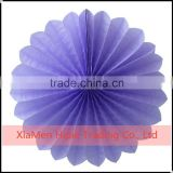 "8"" Lavender Tissue Paper Flower Rosette Fan Baby shower party Decoration"