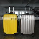 China alibaba 2014new product semitransparent ABS+PC carry-on luggage/abs shell luggage/decent abs+pc luggage