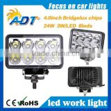 Hot sale work light led, Spotlight Floodlight car Tractor Truck SUV 4X4 4WD Jeep Offroad driving LED work light