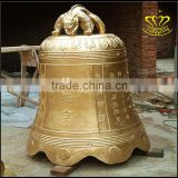 China Regional Feature Bronze outdoor shiny bell sculpture