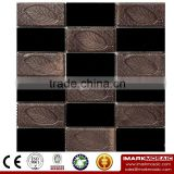 IMARK Electroplated Color Glass Mix Ceramic Mosaic Tiles (IXGC8-078) for back splash mosaic wall art