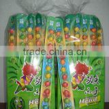 12ct watermelon bubble gum balls on paper ruler in display box(confectionery chewing gum candy)