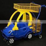 RH-SK10 1510*580*1030mm double layers baskets kids shopping trolley cart for mall renting