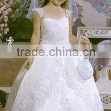 Top welcomed classical sweetheart straps heavy embroidery white satin embroidery flower girl dress A2536