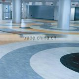 vinyl flooring: 2mm to 5mm plastic marble tiles with 0.2mm to 0.7mm wear layer,water proofing and light weight.
