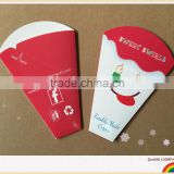 RECYCLABLE CREPE HOLDERS FOOD GRADE PAPER LOGO PRINTING