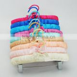 Candy Color Satin Padded Pants/Skirt Hanger with Clips for Children