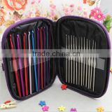 New design aluminium crochet hook set knitting needle crochet hook knitting hook