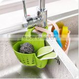 Kitchen Bathroom Adjustable Sink Hanging Storage Basket / hanging faucet storage rack organization basket