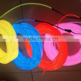 Super bright 2.3mm el wire with many colors 50meter per roll