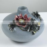 RORO Harmony Completeness water lily enamel coloured glass decorative vase flower receptacle