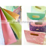 good quality different colour gift paper Packaging shopping Bag with handlle for garment with factory price