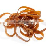 Wholesale 80mm Unbreakable Transparent Silicone Rubber Band Nature Brown