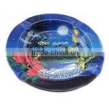 2015 SGS approved round printed tin ashtray
