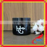 black glass jar cosmetics cream empty jar with glass jar for face cream