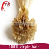 Girl's favorite! flat tip hair, golden supplier raw unprocessed wholesale human hair extension