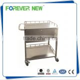 YXZ-A025 Wholesale Stainless Steel medical dressing trolley Cart