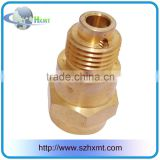 CNC machining brass parts OEM service/customized cnc turning brass mechanical parts/precision CNC turning piece