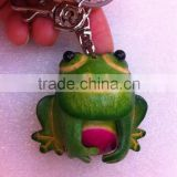 Wholesale promotion personal Handmade Soft leather animal key chain