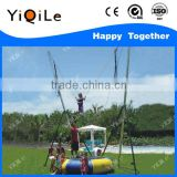 2016 single children bungee jumping equipment bungee mini trampoline bungee trampoline rope