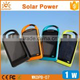 Factory hot selling 4000Mah/8000Mah backpack solar panel cell phone charger