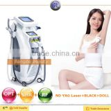 Effective !!! Hair removal a portable elight (IPL+RF) +SHR+OPTfor wrinkle and pigment removal with high quality