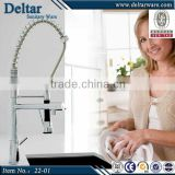 restaurant stainless steel brushed sink faucet, kitchen water heater tap, elegent pull out basin faucet