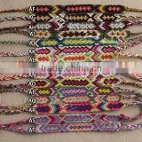 2015 summer fashion cotton string bracelet ,different colorful pattern bracelet braided bracelet