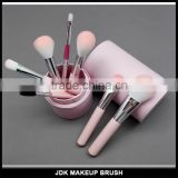 Beauty pink 8 piece brush set makeup tool wholesale makeup brushes private label makeup brush set with case