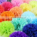 Red Peach Light blue Navy blue green Chocolate Ivory Orange Lavender Pink Yellow Purple Tissue Paper Decorative Flower Ball